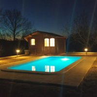 Casona Serrari - Pool by Night